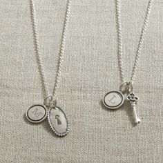 Lock & Key necklaces {for best friends or mothers & daughters}