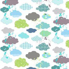 clouds fabric by katarina on Spoonflower - custom fabric