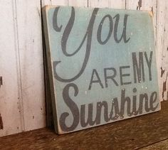 You Are My Sunshine  Handpainted Distressed by TheFunkiLittleFrog, $40.00