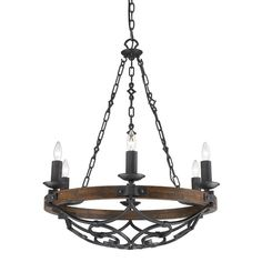 Golden Lighting Madera Black Iron Rustic Chandelier at Lowe's. Magnificently traditional, Golden Lighting Madera collection blends antique tones and patinas that speak of a rich Spanish heritage. An inky black iron Black Iron Chandelier, Iron Chandeliers, Candle Chandelier, Rustic Chandelier, Chandelier Lighting, Candelabra Bulbs, Rustic Lighting, Loft Lighting, Chandelier Ideas