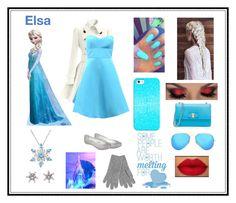 """Modern Elsa! Disney Look 4#"" by n-kaas-sorensen on Polyvore featuring Melissa, Monique Lhuillier, Salvatore Ferragamo, L.K.Bennett, Ray-Ban, Casetify, Disney and modern"
