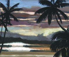 Niwiliwili Sunset Giclee Print