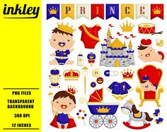 ¡50% DE DESCUENTO!!!! Sistema de imágenes prediseñadas Imágenes Prediseñadas, imágenes prediseñadas divertido, Baby Prince imágenes prediseñadas - imágenes prediseñadas lindo, bebé, Adorable Digital Clip Art