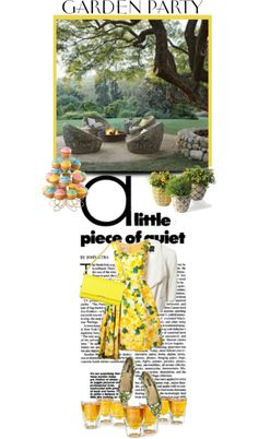 """""""GARDEN PARTY YELLOW"""" by ozlem-ozcanb on Polyvore"""