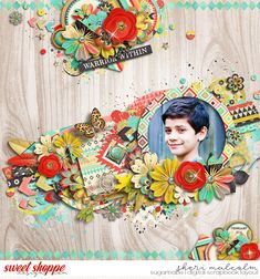 Digital scrapbook page by Sheri using Inner Warrior COLLECTION by Studio Flergs