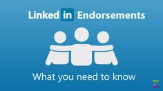 LinkedIn Endorsements – Are You Using Them Properly?  For better or for worse, the introduction of LinkedIn's endorsements has had an effect on how users approach the site.