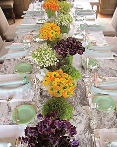 Martha's Easter Centerpieces -- made with spring flowers: sweet peas, ranunculus, tulips, and leucojum. Floral Centerpieces, Table Centerpieces, Easter Centerpiece, Table Arrangements, Floral Arrangements, Flower Arrangement, Wedding Decor, Wedding Tables, Wedding Ideas