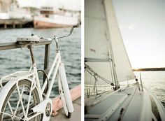 Sea, boat and a bike. Perfect things for weekend.