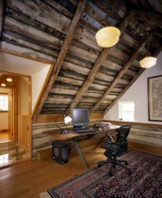 georgianadesign:  Contemporary renovation to a historic log cabin, Waterford, VA. Reader & Swartz Architects. Nathan Webb, AIA, photography.
