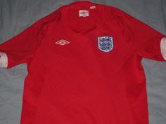 30bd6503e Sale Vintage EUC Umbro England Away Soccer Jersey by casualisme Football  Shirts