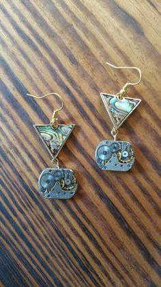 Steampunk Earrings | free shipping | mechanical watch movement earrings | drop earrings | steam punk