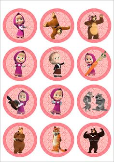 25 Digital Collage Sheet.Masha and the bear.Digital от LaVanda36