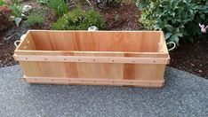 16x12 or 16x18 deep cedar planter box firewood by RopedOnCedar, $50.00