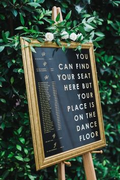 You can find your seat here but your place is on the dance floor Signage Agape Planning Photo Adrian Jon Photography Funny Wedding Signs on Here Comes The Guide Funny Wedding Signs, Wedding Humor, Wedding Hacks, Budget Wedding, Funny Wedding Invitations, Vintage Wedding Signs, Event Invitations, Budget Bride, Perfect Wedding