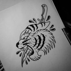 WEBSTA @ matt_pettis_tattoo - #tattoo #tattoos #tats #tattoodesign #tattooart #tattooflash #art #ink #inked #bodyart #flash #doodle #drawing #sketch #artwork #artist #blackwork #blackworkers #blackworker #oldschool #oldschooltattoo #traditionaltattoo #blacktattooart #blacktattoo #tigertattoo #daggertattoo