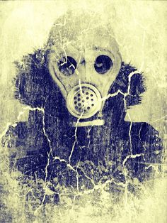 Gas Mask Art  Digital Photography  6 x 8 by LuckyGirlEleven, $20.00
