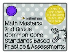 This packet includes 4 printable, no prep pages that can be used for practicing or assessing the 2nd Grade Common Core Standard 2.NBT.2, counting to 1,000 by 1's, 5's, 10's, and 100's. Included in this packet are grading sheets for the standard with room for 25 student names, the printables, and the answer keys.
