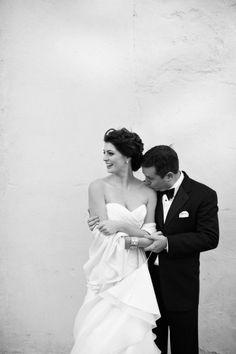 A classic black white Charleston wedding: