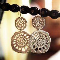 Spider Web earrings (silver)  $135