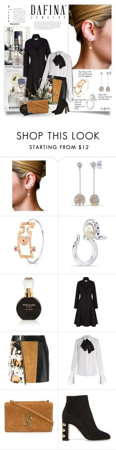 """""""Dafina Jewelry #7"""" by thewondersoffashion ❤ liked on Polyvore featuring Kelly Wearstler, River Island, FAUSTO PUGLISI, Isa Arfen, Yves Saint Laurent, Dolce&Gabbana and NARS Cosmetics"""