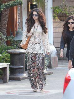 Crochetemoda: Selena Gomez - Túnica de Crochet