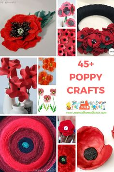 Over 45 Poppy Crafts - Perfect for Remembrance, Armistice or Veteran's day. Celebrate remembrance day and armistice with these fantastic poppy crafts, poppy activities and all things poppies. Remembrance Day Activities, Remembrance Day Poppy, Poppy Craft For Kids, Crafts For Kids, Flower Crafts, Flower Art, Cactus Flower, Paper Plate Poppy Craft, Veterans Day Poppy