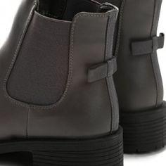 Teplá dámska členková obuv sivá s prackou na podpätku - fashionday ... b41a655b4af