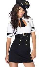 First Class Captain Costume Set by Leg Avenue