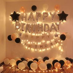Foto-Birthday Room Decoration Ideas For Boyfriend Birthday Decorations At Home, Anniversary Decorations, Decoration Party, Surprise Party Decorations, Birthday Surprise Boyfriend, Husband Birthday, Surprise Birthday, Boyfriends 21st Birthday, Birthday Surprises For Him