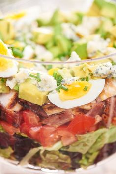 Consider a layered Cobb, the trifle of salads.