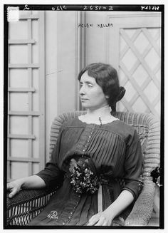 Helen Keller; Despite disability of both deafness and blindness, she learned to read and write, becoming a champion of social issued and helping to improve the welfare of deaf people.