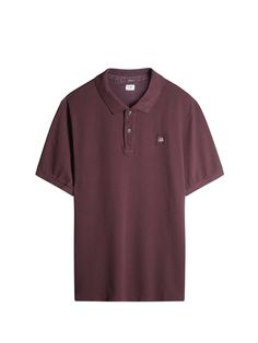 C.P. Company Cotton Pique Regular-Fit Polo Shirt in Plum