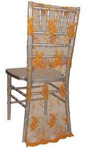 Wildflower Linen--gorgeous way to decorate wedding chairs
