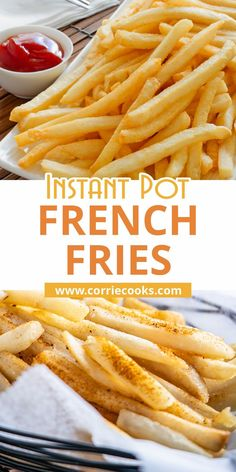 Click to get one of the most popular recipes on Corrie Cooks: Instant Pot french fries! Healthy and easy side dish you can make again and again! Kids are loving them and they are great as a homemade snack. These pressure cooker french fries are perfect for parties, weeknight dinners, appetizers and any time you have guests. Best Pressure Cooker Recipes, Instant Pot Pressure Cooker, French Fries Recipe, Potted Beef Recipe, Side Dishes Easy, Main Dishes, Best Instant Pot Recipe, Side Dish Recipes, Dinner Recipes