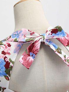 White Floral Lace Up Dress Floral Lace, Lace Up, White Backdrop, Sweet Dress, Body Measurements, 1950s, Color Black, Floral Prints, High Heels