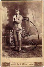 PENNY FARTHING / HIGH WHEEL BICYCLE - MITCHELL DAKOTA TERRITORY CABINET PHOTO