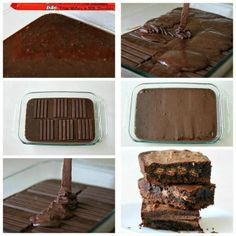 Kit kat brownies..     share your recipes with us on Facebook at The Texas Food Network