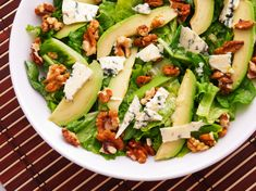 Endive and Avocado Salad: Mix together this salad recipe for a quick and healthy lunch. Mixed Vegetable Salad Recipes, Easy Green Salad Recipes, Lettuce Salad Recipes, Side Salad Recipes, Vegetarian Salad Recipes, Salad Recipes For Dinner, Lunch Recipes, Dieta Dash, Healthy Fast Food Options