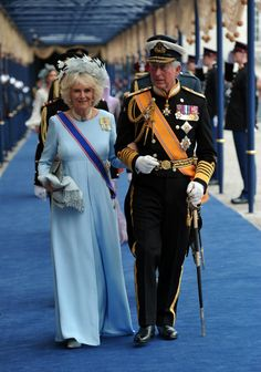 MYROYALS  FASHİON: April 2013.   Camilla looks particularly gorgeous in this outfit accompanied by a debonair Prince Charles