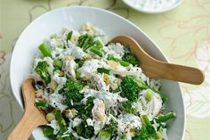 Lime and coriander chicken with Tenderstem rice salad recipe