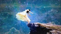 Transcendentalist art and believes favor being one with nature. In this picture the girl is completely immersed with nature. She is physically going with the land, sky and wind. Art Prophétique, Meditation, Kunst Online, Prophetic Art, Belle Photo, Night Skies, Urban Art, Amazing Art, Amazing Gifs