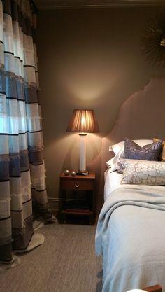 Home for the Holidays Designer Showhouse glam neutral bedroom - LightsOnline Blog