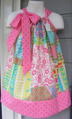 Pillowcase Dress by Megan Canapary Sears Sewing For Kids, Baby Sewing, Sewing Clothes, Diy Clothes, Little Girl Dresses, Girls Dresses, Dress Patterns, Sewing Patterns, Sewing Crafts