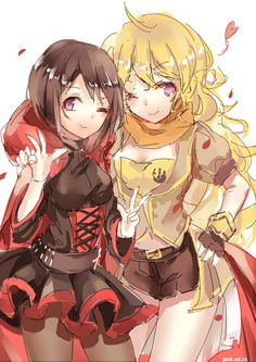 Yang Xiao Long and Ruby Rose