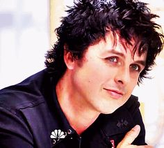 I really question myself sometimes. Especially when I pin a GIF of Billie Joe Armstrong blinking.<< He just looks so happy in this GIF, you can't not pin this.