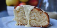 Fresh Apple Cake with Vanilla Sauce using local Swedish Apples