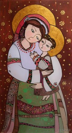 Богородиця з дитям - Курий-Максымив Наталя