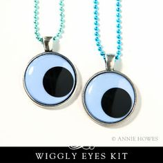 Annie Howes Photo Jewelry Making: Wiggly Eyes Are Giving You the Googly Eyes! Easy to Make Party Favor Kit!
