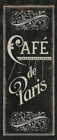 Café de Paris sign