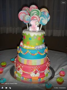 Cake from a Candy Party #candyparty #cake